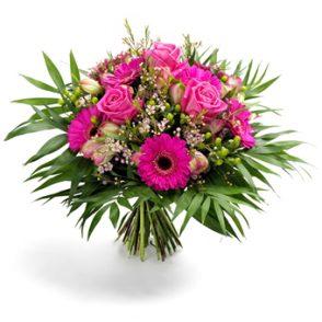 Boeket roze bloemen extra groot