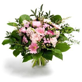 boeket licht roze bloemen groot