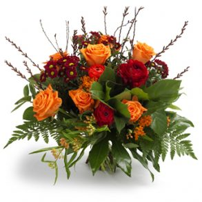 boeket oranje bloemen groot