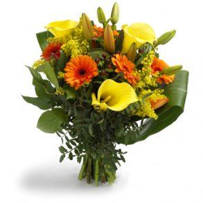 boeket oranje en gele bloemen groot