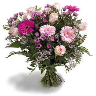 boeket roze en lila bloemen groot
