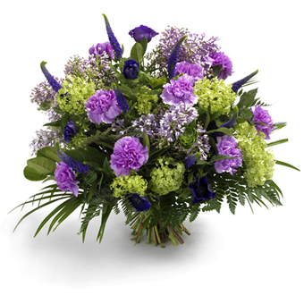 boeket paarse bloemen groot