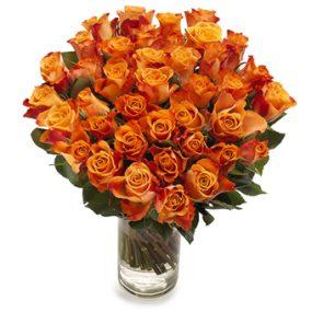 bos oranje rozen groot