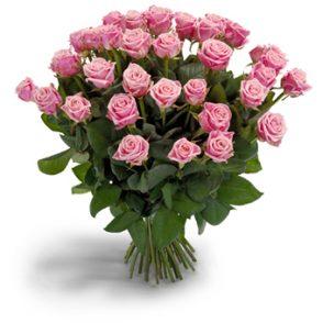 Bos roze rozen extra groot
