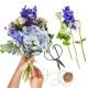 Verrassingsboeket seizoensbloemen blauw