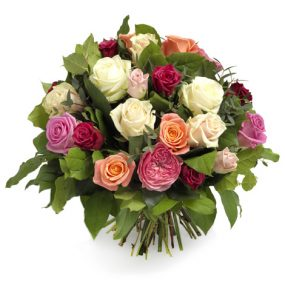 luxueus gemengde rozen boeket groot