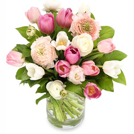 Ranonkels en tulpen groot