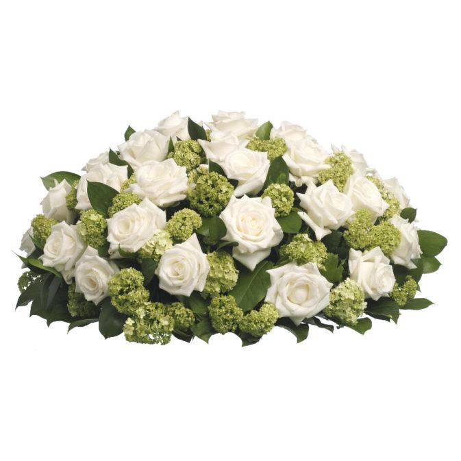 Biedermeier witte rozen klassiek