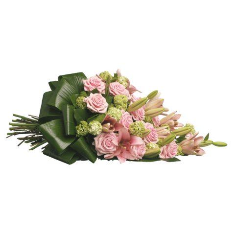 Rouwboeket roze klassiek