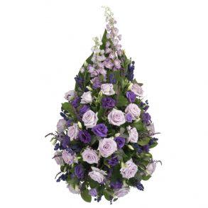 Rouwstuk klassiek druppel paars & lila bovenaanzicht