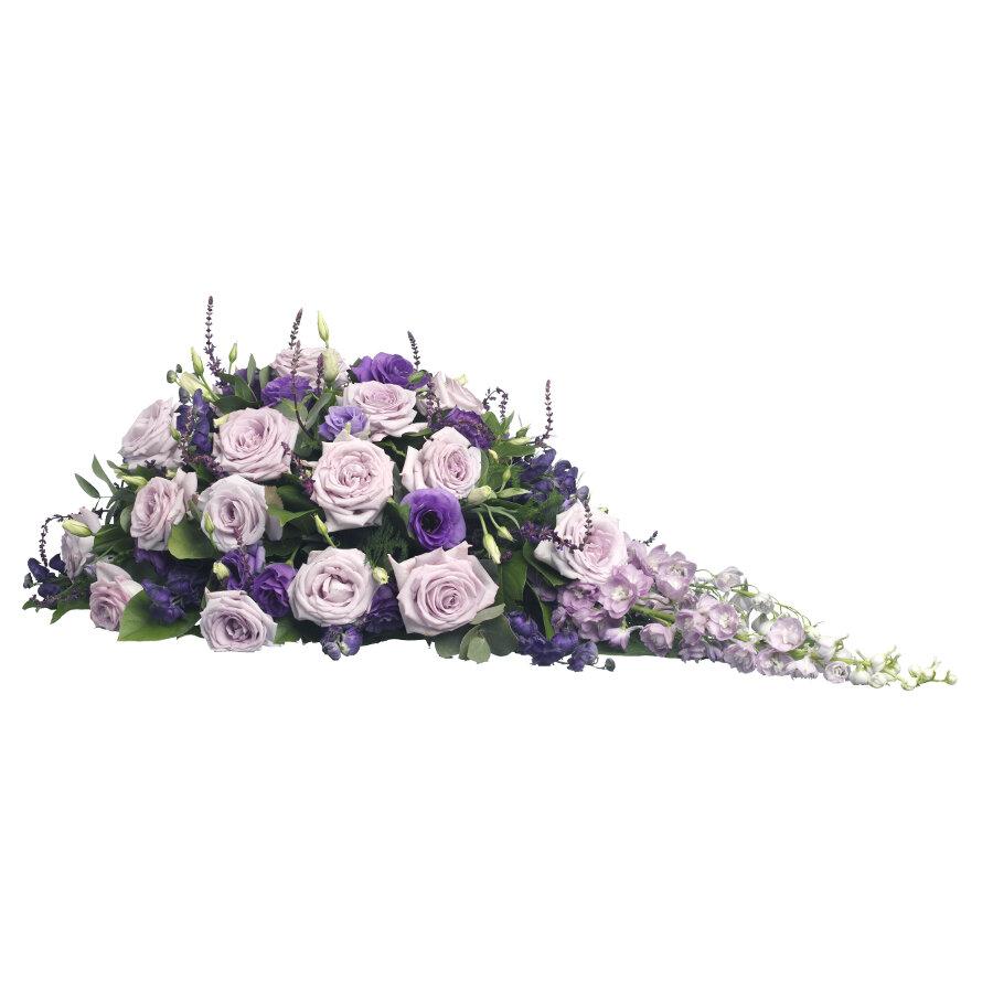 Rouwstuk klassiek druppel paars & lila