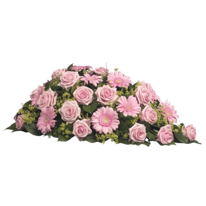 Rouwstuk klassiek druppel roze